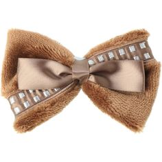 Star Wars Chewbacca Faux Fur Cosplay Bow | Hot Topic (20 BRL) ❤ liked on Polyvore featuring accessories, hair accessories, bows, hats/hair accessories, bow hair accessories, bow hair clips, hair clip accessories and barrette hair clips
