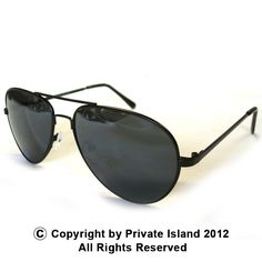 Private Island Party  - Classic Black Aviator Style Sunglasses, $1.70- $2.99  Without hours of flight time and training, you won't be flying the skies anytime soon. You can still sport that professional pilot look with our classic black aviator style sunglasses.