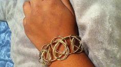 Guitar string bracelet:)