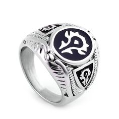 ZMZY Fashion Punk Vintage 316L Stainless Steel Men Rings Biker Jewelry Gothic World of Warcraft WOW Alliance Ring Game #Punk fashion http://www.ku-ki-shop.com/shop/punk-fashion/zmzy-fashion-punk-vintage-316l-stainless-steel-men-rings-biker-jewelry-gothic-world-of-warcraft-wow-alliance-ring-game/