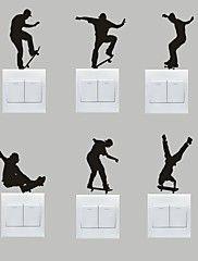 Esportes Wall Stickers Autocolantes de Aviões para Parede Autocolantes de Parede Decorativos / Autocolantes de Interruptores de Luz,PVC