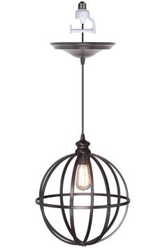 Globe Bronze Pendant Conversion Lit - $79