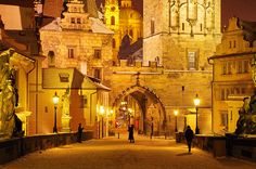Doesn't this pace look magical?  Charles Bridge, #Prague
