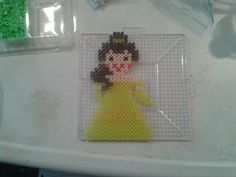 Disney Belle perler beads by Eleka Peka