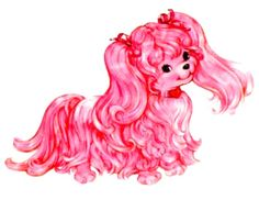 SilkyPup, Lady Lovely Locks' pink pet dog.