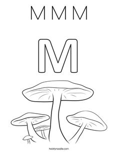 m m m coloring page that you can customize and print for kids