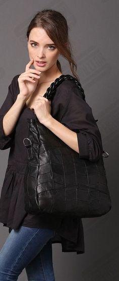 Fashion Handbag Lady Shoulder Bag Genuine Leather Sheepsk color  black #Unbranded #Shoulder