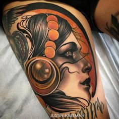Neo Traditional Tattoo by Justin Hartman #NeoTraditional #NeoTraditionalTattoos…