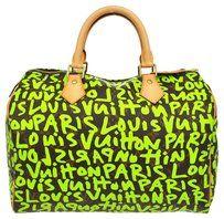 Louis Vuitton Speedy 30 Tote in Light Green