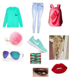 """""""PINK"""" by morningdawn411 ❤ liked on Polyvore featuring Victoria's Secret, Glamorous, NIKE, Boohoo and Lime Crime"""