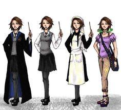 Rapunzel, Hogwarts style. - the flying professor daughter?