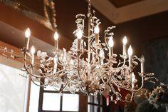 Extravagant lighting fixture | silver lighting | leaf lighting fixture | chandelier | garden chandelier | large chandelier |