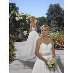 Satin Strapless Sweetheart Neckline with Rouched Bodice in A line Skirt Zipper Wedding Gown WF-0067
