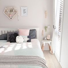 Grey, Blush and Gold Bedroom