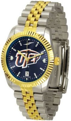 UTEP Texas (El Paso) Miners Executive AnoChrome Men's Watch by SunTime. $154.10. The ultimate NCAA UTEP Texas (El Paso) Miners fan's statement, our Executive timepiece offers men a classic, business-appropriate look. Features a 23KT gold-plated bezel, stainless steel case and date function. Secures to your wrist with a two-tone solid stainless steel band complete with safety clasp.¶¶The AnoChrome dial option increases the visual impact of any watch with a stunning radi...