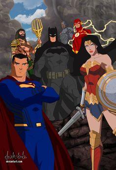 Justice League Movie verse 2017 by dark-BuB on DeviantArt Justice League Comics, Arte Dc Comics, Dc Comics Superheroes, Hero Marvel, Marvel Dc, Marvel Comics, Dc Animated Series, Justice League Unlimited, Batman Artwork