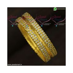Real Gold Jewelry, Stone Jewelry, Indian Jewelry, Stone Gold, Diamond Stone, Indian Fashion Online, Line Stone, Gold Bangles Design, Gold Plated Bangles