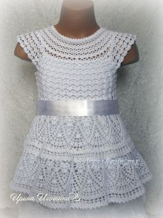 vestido de copo de nieve. tejer empleos Irina Igoshin y el esquema de ganchillo
