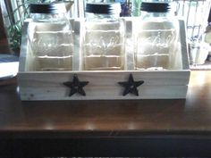 Dry goods keeper with the half gallon jars inside.