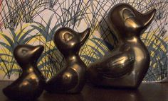 Decorative Brass Duck set of three by MotherLark on Etsy, $12.00
