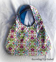 Easy Reversible Handbag: Growing Up Gabel #sewing