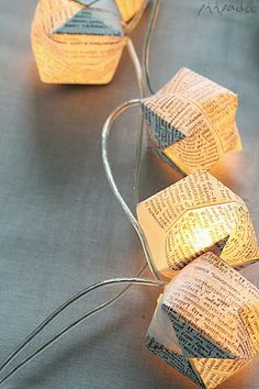 paper cube string lights | p i i p a d o o: Pallovalot itse tehden