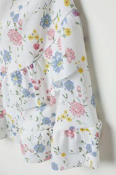 V-ringad klänning - Vit/Blommig - DAM | H&M SE 5