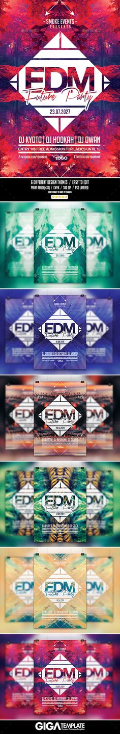 EDM Futuristic Music | Night Flyer PSD Template (CS, 4x6, abstract, alternative, bundle, colorful, deejay, drum n bass, drumnbass, dubstep, edm, electro, electronic, elemental, event, festival, future, futuristic, geometric, minimal, minimalist, modern flyer, music, nature, night, party, print template, progressive house, summer, techno poster, trance, urban)