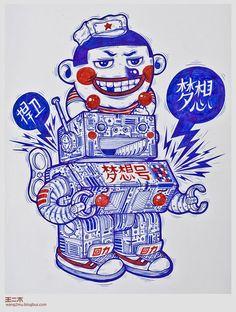 Ballpoint Pen Drawings by Wang2Mu