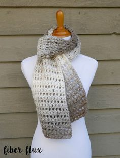 The Tea Leaves Scarf is elegant and easy to work up. Rows of double crochet and puff stitches give it beautiful texture and neutral yarn goes with just about everything too! Need a little help? There