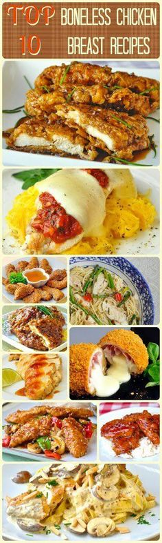 Top Ten Boneless Chicken Breast Recipes -  It's the chicken we buy most often but it's also the chicken we struggle with most to come up with new ways to serve up this quick and easy favorite. I've taken to Rock Recipes archives to bring you our top ten most popular recipes using boneless, skinless chicken breasts. Many of them are low fat alternatives, most can be accomplished in a half hour or so and run the gamut from recipes for quick weekday dinners to a relaxing dinner party.