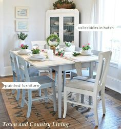 town and country dining table