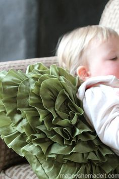 Spiral Ruffle Pillow