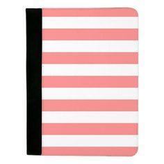 Coral stripe padfolio #ad