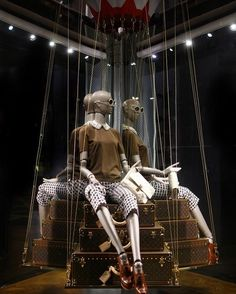 "LOUIS VUITTON, Paris, France, ""The Future is Classic"", photo by Vitrinistika, pinned by Ton van der Veer"