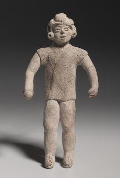 Figurine Holding A Ball(?), Xochipala style (1500-500 BC)                                       Mexico, Guerrero, Xochipala style (1500-500 ...