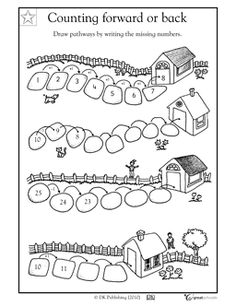 grade Math Worksheets: Counting forward or back Kindergarten Addition Worksheets, Teaching Addition, 2nd Grade Math Worksheets, 1st Grade Math, Kindergarten Fun, Preschool Worksheets, Touch Math, Subtraction Worksheets, Math Intervention