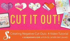 Creating Negative Cut Outs - digital scrapbooking tutorial