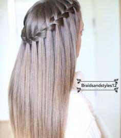 La tresse cascade sur cheveux lisses