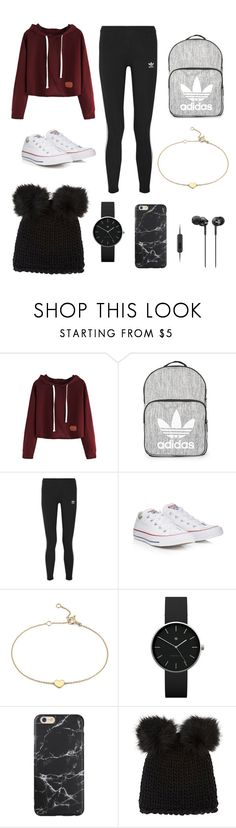 """Road trip with Shyla Oliver"" by wdwhadmeshook ❤ liked on Polyvore featuring Topshop, adidas Originals, Converse, Blue Nile, Newgate, Barneys New York and Sony"
