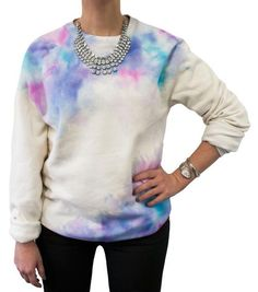 Turning an everyday staple into a work of wearable art is no sweat. Inspired by the painterly prints of designers likePreen , MSGM and Reed Krakoff , a little dab of abstract floral radness does wonders for a drab old crew neck…so get on board and bring out your inner DIY Picasso, baby! To create: Insert a piece of cardboard orbristol paper inside thesweatshirt to prevent paint from bleeding through. Soak akitchen sponge in water; ring out excess, then gently dampen the sweatshirt.