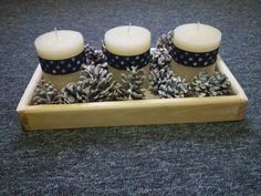 Wooden Christmas tray