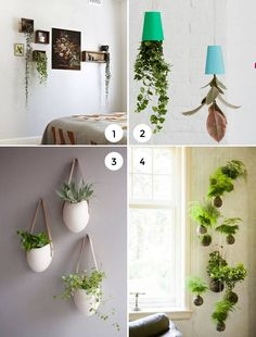 Upside Down Hanging Plant Decorations