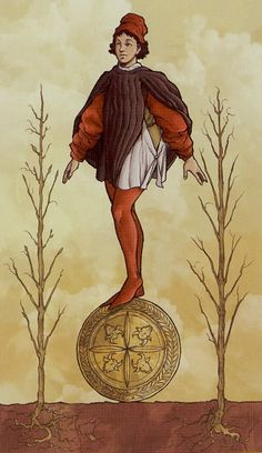 Page of Pentacles - TAROT UNIVERSAL WIRTH