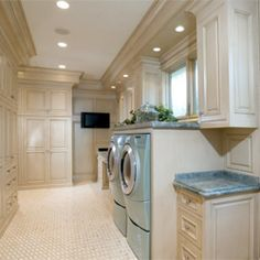 Why shouldn't your laundry room be luxurious? You deserve it! Come look at these beauties! #dwellinggawker