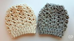Ponytail or kNOT Crochet Hat ~ UPDATED JAN. 18, 2017 ~ easy level ~ can be crocheted as a beanie, slouchy hat, ponytail or messy bun hat ~ FREE - CROCHET
