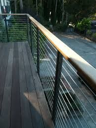 Deck Railings Design, Pictures, Remodel, Decor and Ideas - page 8 Modern Railing, Deck Railing Design, Balcony Railing, Deck Railings, Deck Design, Cable Railing, Modern Balcony, Modern Deck, Mid-century Modern