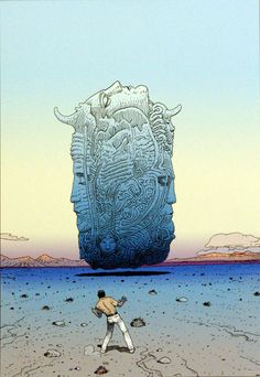 Les Planches du Major 1 (Limited Edition Print) (Signed) art by Moebius (Jean Giraud)