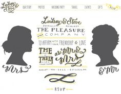 wedding website plan (with graphics instead of photos! which is hard to find)