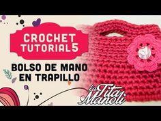 Crochet - Bolso de mano de trapillo